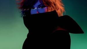 Mylene Farmer French Singer Redhead Wolf Closed Eyes 4096x4096 Wallpaper