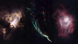 Space Galaxy Stars Collage 2048x1138 Wallpaper