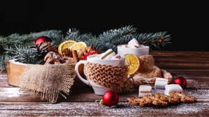 Christmas Still Life Cookie 2560x1707 Wallpaper