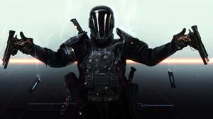 Sci Fi Soldier Armor Gun Last Man Standing 1966x1200 Wallpaper