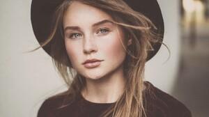 Women Blonde Hat Face Portrait 2048x1363 Wallpaper