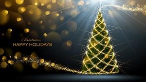 Christmas Christmas Lights Christmas Tree 2560x1361 Wallpaper
