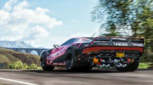 Forza Forza Horizon 4 Cyberpunk Cyberpunk 2077 Quadra Quadra Turbo R V Tech Driving 3840x2160 Wallpaper