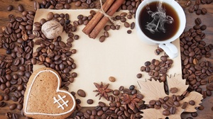 Cinnamon Coffee Coffee Beans Cup Still Life 3008x2000 wallpaper
