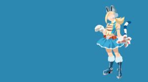 Ryuko Tsuchikawa Minimalist Blonde Tail Boots Skirt Glove Headphones Glasses Belt Pixie Bob Boku No  1920x1080 wallpaper