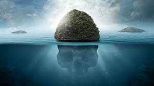 Island Skull Water 5120x2880 Wallpaper