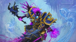 Hearthstone Heroes Of Warcraft Hearthstone Warcraft Cards Artwork Knights Of The Frozen Throne Death 1920x1080 Wallpaper