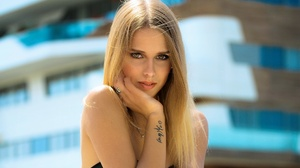 Blonde Depth Of Field Girl Model Tattoo Woman 2000x1333 Wallpaper