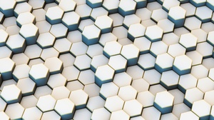 Artistic Digital Art Geometry Hexagon Pattern 2560x1600 wallpaper