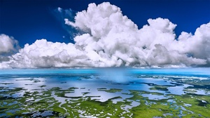 Aerial Cloud Everglades National Park Florida Sea 1920x1080 Wallpaper
