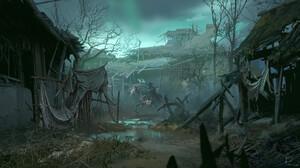 Abandoned Dark Horse Skeleton Village 1920x1050 Wallpaper