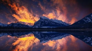 Lake Mountain Nature Reflection 2048x1161 Wallpaper