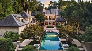 House Architecture Mansion Swimming Pool Trees Atlanta 1840x1266 Wallpaper