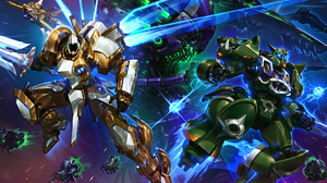 Abathur Starcraft Crossover Diablo Iii Heroes Of The Storm Rehgar Earthfury Starcraft Tyrael Diablo  1920x1200 Wallpaper