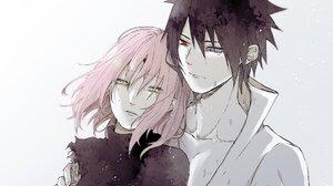Sakura Haruno Sasuke Uchiha 2048x1652 Wallpaper