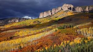 Forest Mountain Usa Landscape Cliff 2048x1365 Wallpaper