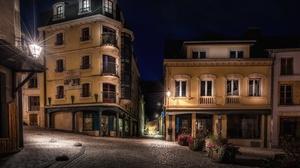 Town Urban Street Night 3840x2160 Wallpaper