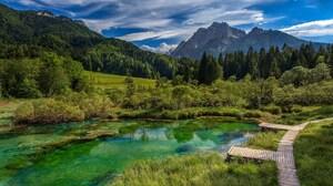 Lake Mountain National Park Path Triglav National Park Slovenia 1920x1080 wallpaper