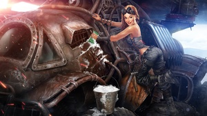 Blonde Crossout Video Game Girl Goggles Pin Up 1920x1224 Wallpaper