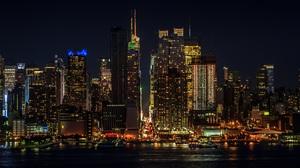 Building City Manhattan New York Night Skyscraper Usa 5184x3456 Wallpaper
