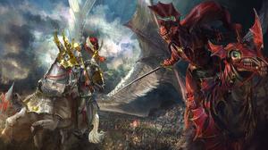 Creature Horse Sword Total War Warhammer Warrior 2560x1440 wallpaper