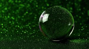 Artistic Bokeh Glitter Green Reflection Sphere 5557x3503 wallpaper