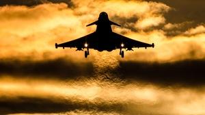 Jet Fighter Aircraft Warplane Silhouette 2979x1986 Wallpaper