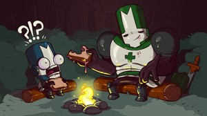 Castle Crashers Video Games Fireplace Humor 1920x1080 Wallpaper
