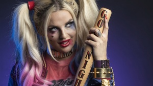 Blonde Blue Eyes Cosplay Dc Comics Girl Harley Quinn Model Woman 2692x1530 Wallpaper