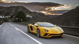 Car Lamborghini Lamborghini Aventador Sport Car Supercar Vehicle Yellow Car 4300x2867 Wallpaper