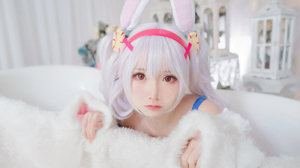 Women Asian Zelizer Mbxer Laffey Azur Lane Bunny Ears Cosplay 3840x2160 Wallpaper