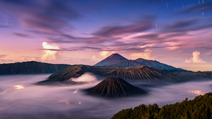 Landscape Mountain Volcano Fog 1920x1200 Wallpaper