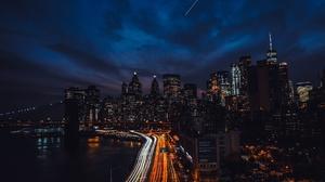 Building City Freeway New York Night Skyscraper Time Lapse Usa 1920x1080 Wallpaper