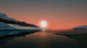 Minimalism Landscape Digital 6400x4000 Wallpaper