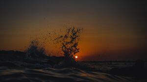 Nature Sun Sunset Sea Water Water Drops Waves 4032x3024 Wallpaper