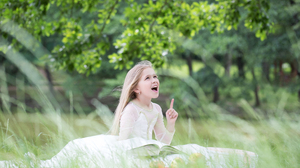 Blonde Child Grass 4200x2800 Wallpaper