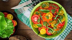 Food Salad Vegetables Tomatoes 1920x1080 Wallpaper