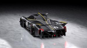 Pagani Pagani Huayra Supercars Italian Supercars Grey Cars Carbon Fiber Car Vehicle Sports Car Rear  2560x1440 Wallpaper