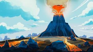 Earth Volcano 1920x1080 Wallpaper