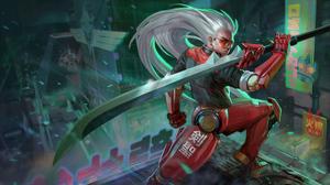 Warrior Cyborg Sword 3840x2160 Wallpaper