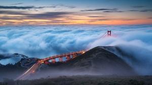 Bridge Cloud Golden Gate Horizon 2048x1367 Wallpaper