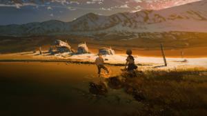 Lake Sunset Mountain 3137x2288 Wallpaper