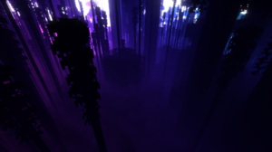 Minecraft Colorful Green Blue Purple Minecraft Nether Jungle Shaders 1920x1080 Wallpaper