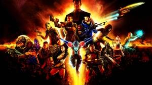 Illusive Man Commander Shepard Garrus Vakarian Samara Mass Effect Miranda Lawson Thane Krios TaliZor 1920x1200 Wallpaper