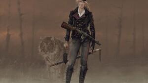 Woman Warrior Soldier Machine Gun Tiger Smoking 1920x1485 Wallpaper