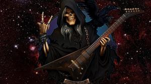 Grim Reaper Guitar Raven Rock Amp Roll 3000x1900 Wallpaper