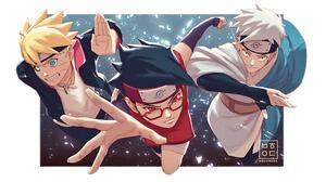 Boruto Anime Mitsuki Naruto Naruto Uzumaki Sarada Uchiha 2500x1441 Wallpaper