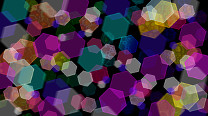 Abstract Artistic Colors Digital Art Hexagon 1920x1080 Wallpaper