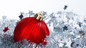Christmas Decoration Red Silver White 1920x1200 Wallpaper
