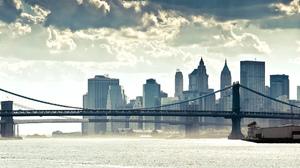 Bridge Cityscape New York Manhattan Bridge 2560x1600 Wallpaper